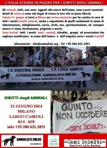 L'Italia scende in piazza per gli Animali