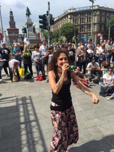 Manifestazione contro la sperimentazione Animale a Milano