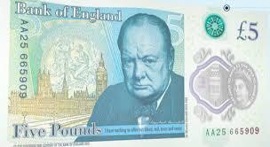 Le nuove 5 sterline inglesi con grasso animale