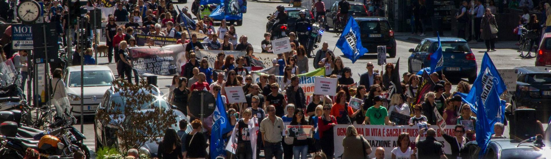 Italia contro la vivisezione