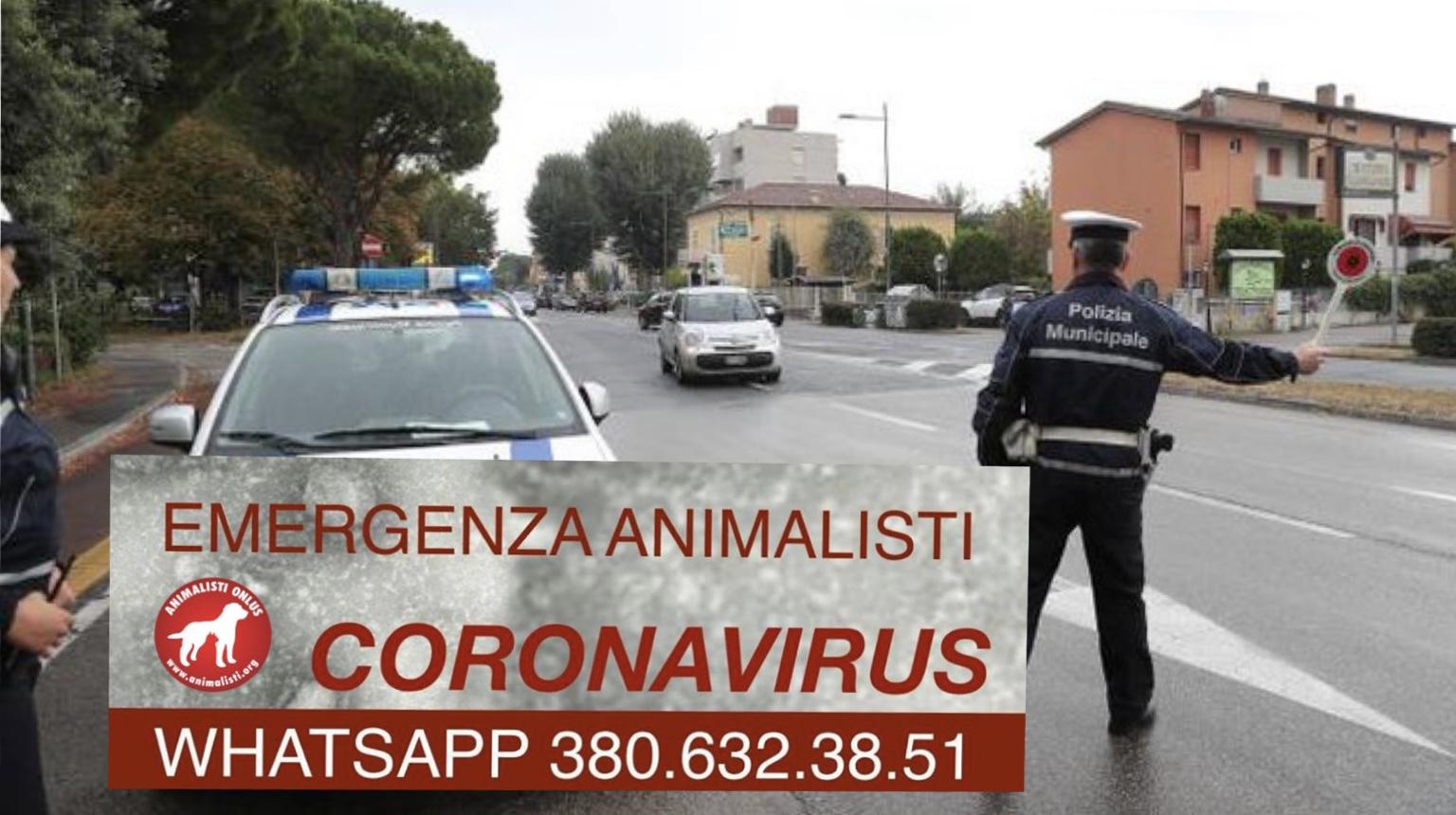 Animalisti Onlus Italia Emergenza Coronavirus