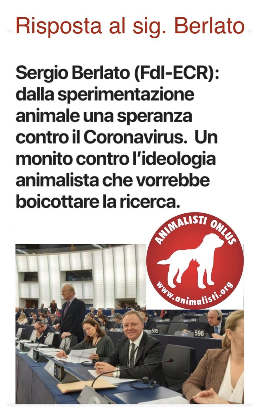 Berlato contro gli animalisti